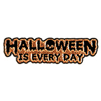 Enamel Glitter Hallowen Is Everyday Pin by Sourpuss (mp271)