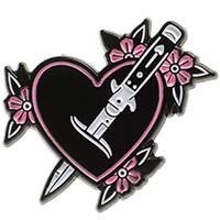Feeling Stabby Enamel Heart & Dagger Pin by Sourpuss (mp5)