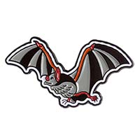 Flying Bat Enamel Pin by Sourpuss (MP369)