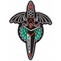 Winged Dagger Enamel Pin by Sourpuss (MP367)
