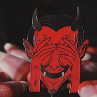 St. Lucifer Enamel Pin by Lively Ghosts  (MP435)