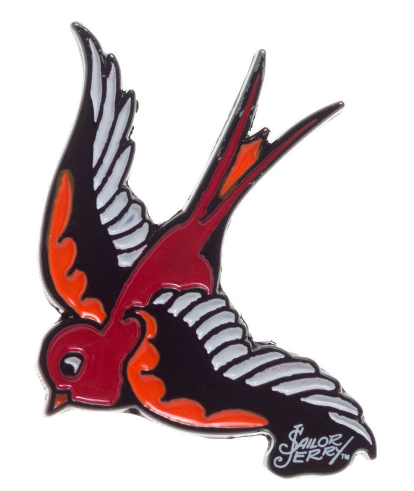 Swallow Enamel Pin by Sailor Jerry (MP218)