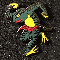 Skanking Frog Pin by Tattoo Punks (mp25)