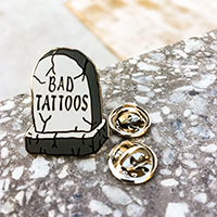 Bad Tattoos Enamel Pin by Bort's Pin Emporium (MP283)
