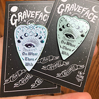 Do What Thou Wilt Planchette, Aleister Crowley inspired Enamel Pin by Graveface - 2 colors (MP439)