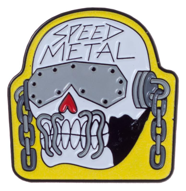 Enamel Glow in the Dark Speed Metal Pin - by Thrillhaus (MP15)