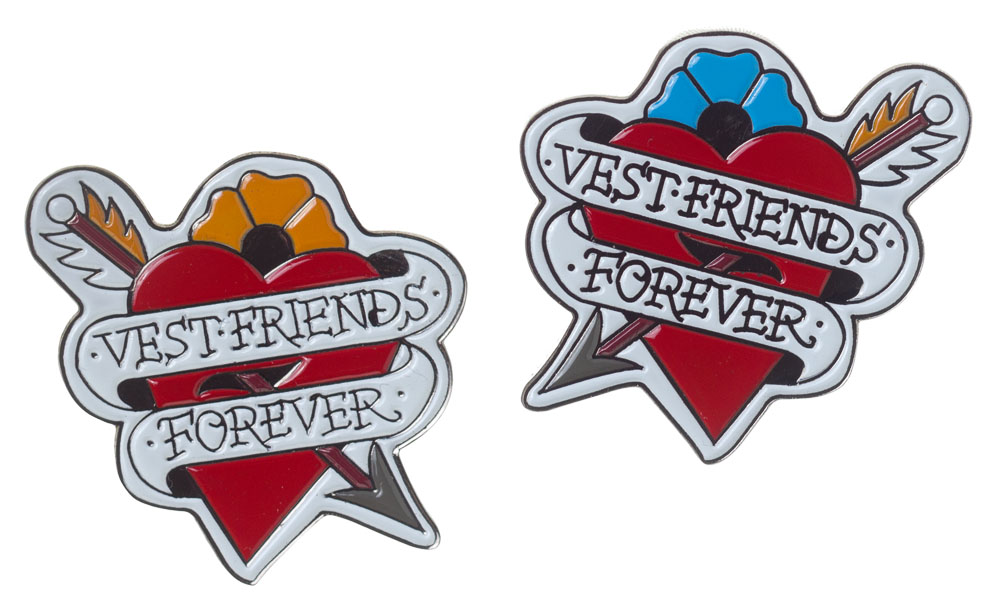 Vest Friends Pin Set- by Thrillhaus  (MP69)