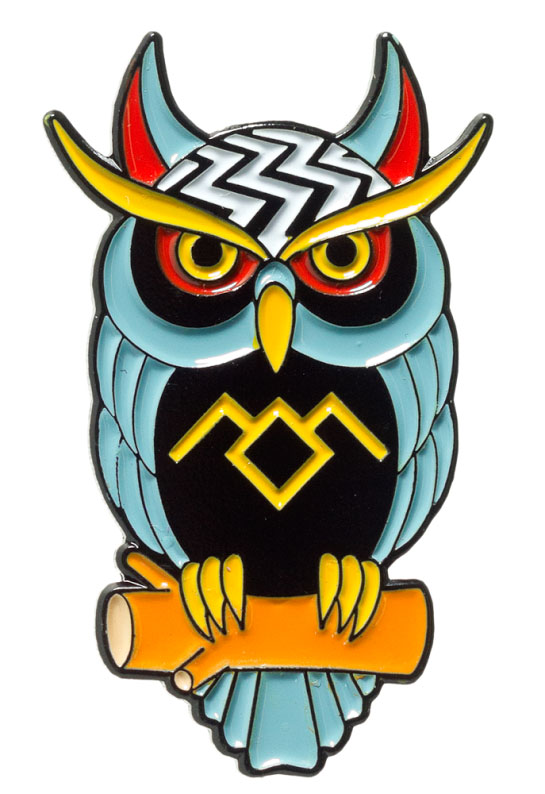 Twin Peaks Owl Enamel Pin - by Thrillhaus (MP84)