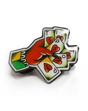 Tip Top Enamel Cards Pin (MP53)
