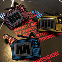 TV Party Enamel Pin by Mood Poison (MP7)