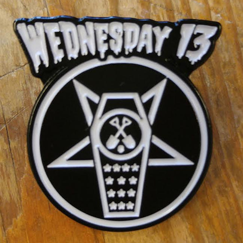 Wednesday 13 Enamel Pin from Western Evil - Coffin Logo (MP54)