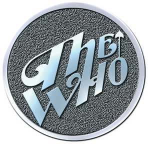 Who- Chrome Arrow Logo metal stick back pin (MP169)