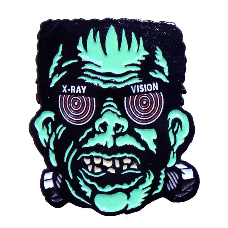 X Ray Franky Enamel Pin by Scumbags & Superstars (mp237)