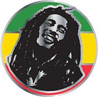 Bob Marley- Rasta Face Enamel Pin (mp120)