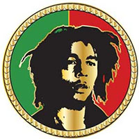 Bob Marley- Split Face Enamel Pin (mp125)