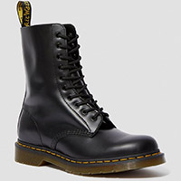 10 Eye Black Smooth Dr. Martens Boot