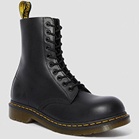 10 Eye Black Steel Toe Dr. Martens Boots