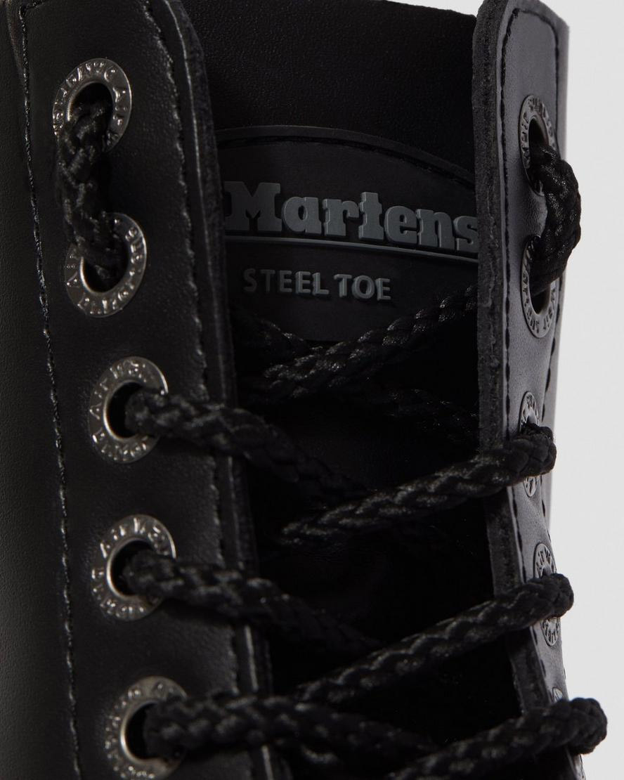 Eye Black Fine Haircell Steel Toe With Black Sole And Stitched Toe ...