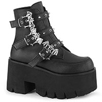 Ashes 55 Bat Buckle Ankle Boot Vegan Boot by Demonia Footwear