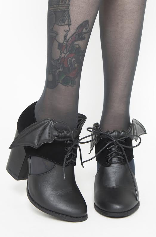 Night Stalker Bat Wing Chunky Heel - by Iron Fist - SALE sz 5 & 11 only
