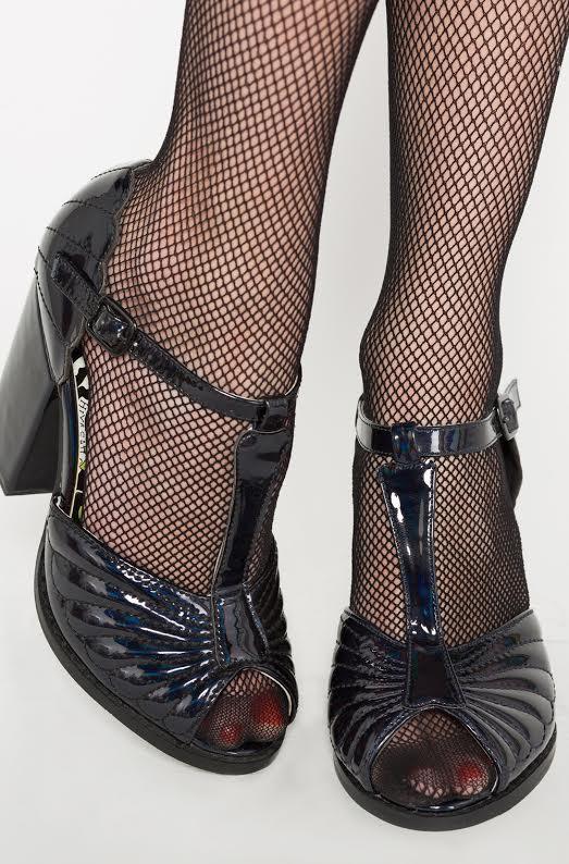 Mother of Pearls Mermaid Heel by Iron Fist  - in black - SALE
