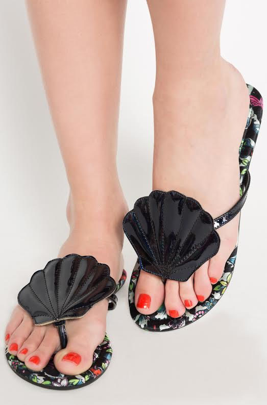 Into the Deep Mermaid Sandal / Flipflop by Iron Fist  - in black - SALE