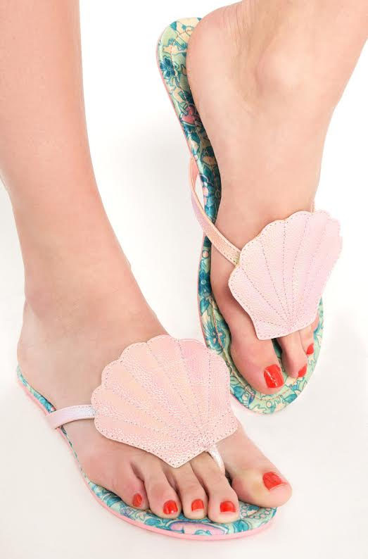 Into the Deep Mermaid Sandal / Flipflop by Iron Fist  - in pink - SALE