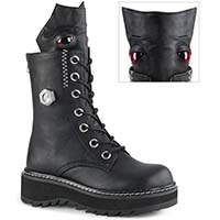 Lilith Lace Up Monster Combat Boot by Demonia Footwear - in Black