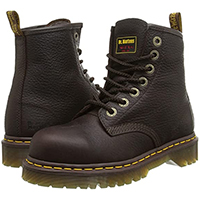 7 Eye Black Industrial Safety Steel Toe Boot by Dr. Martens