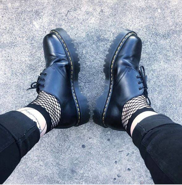 3 Eye Black Smooth Bex Sole Gibson by Dr. Martens