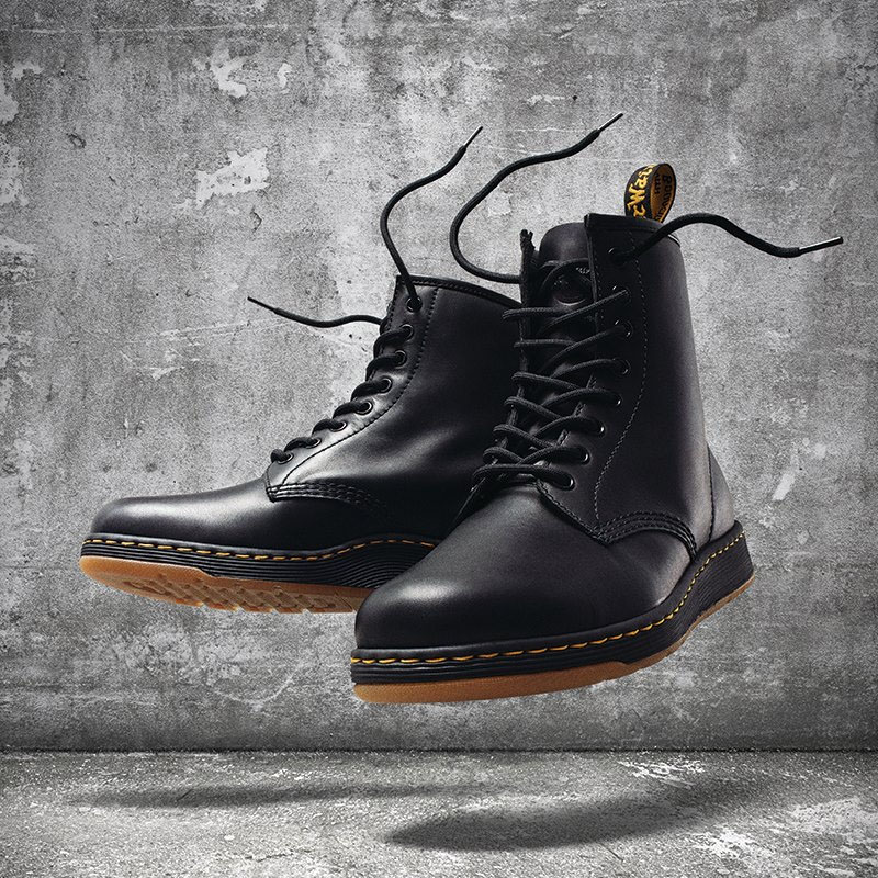 8 Eye DM Lite Newton Boot by Dr. Martens- Black (Lightweight) (Sale price!)