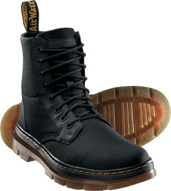 Combs 8 Eye Black Canvas Boot by Dr. Martens (Sale price!)