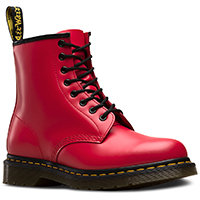 8 Eye Satchel Red Smooth Dr Martens Boots
