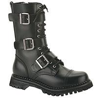 Unisex Riot Steel Toe Combat Boot by Demonia Footwear - Vegan