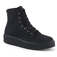 Unisex Creeper Sneeker 201 High Top Sneaker by Demonia Footwear