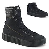 Unisex Creeper Sneeker 270 High Top Pyramid Sneaker by Demonia Footwear