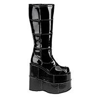 Stack 301 Platform Patent Vegan Boot by Demonia Footwear
