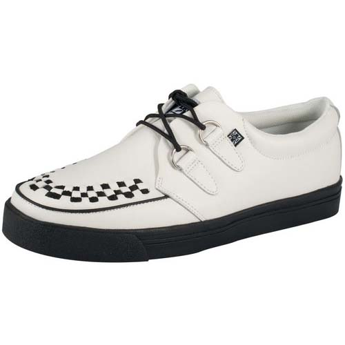 White Leather creeper style sneaker by Tred Air UK (Sale price!)