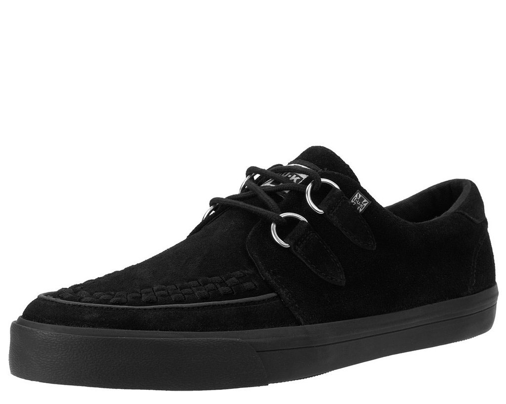 Black Suede VLK creeper style sneaker by Tred Air UK