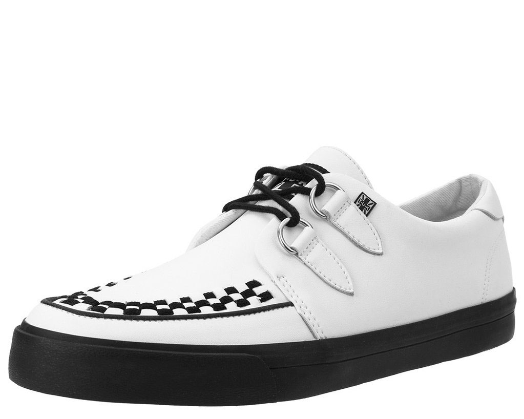 White Leather VLK creeper style sneaker by Tred Air UK