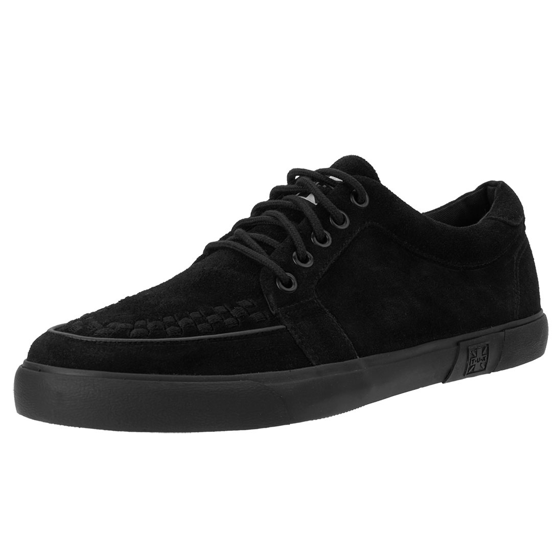 Black Suede No Ring VLK creeper style sneaker by Tred Air UK
