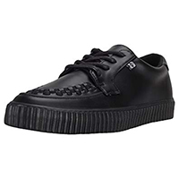 Black TUKskin EZC creeper style sneaker by Tred Air UK (Vegan)