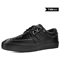 Black TUKskin creeper style sneaker by Tred Air UK (Vegan)
