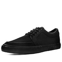 Black Basic Twill No Ring VLK sneaker by Tred Air UK