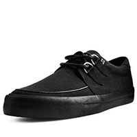 Basic Black Twill VLK creeper style sneaker by Tred Air UK