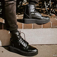 Black TUKskin (Vegan) Casbah Creeper Boot by TredAir UK