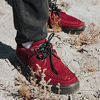 Dark Red Suede VLK creeper style sneaker by Tred Air UK