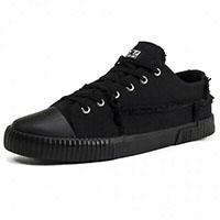 Black Raw Canvas Sneaker by Tred Air UK