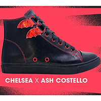 Ash Costello Bat Royalty Chelsea X High Top Sneaker by Strange Cvlt