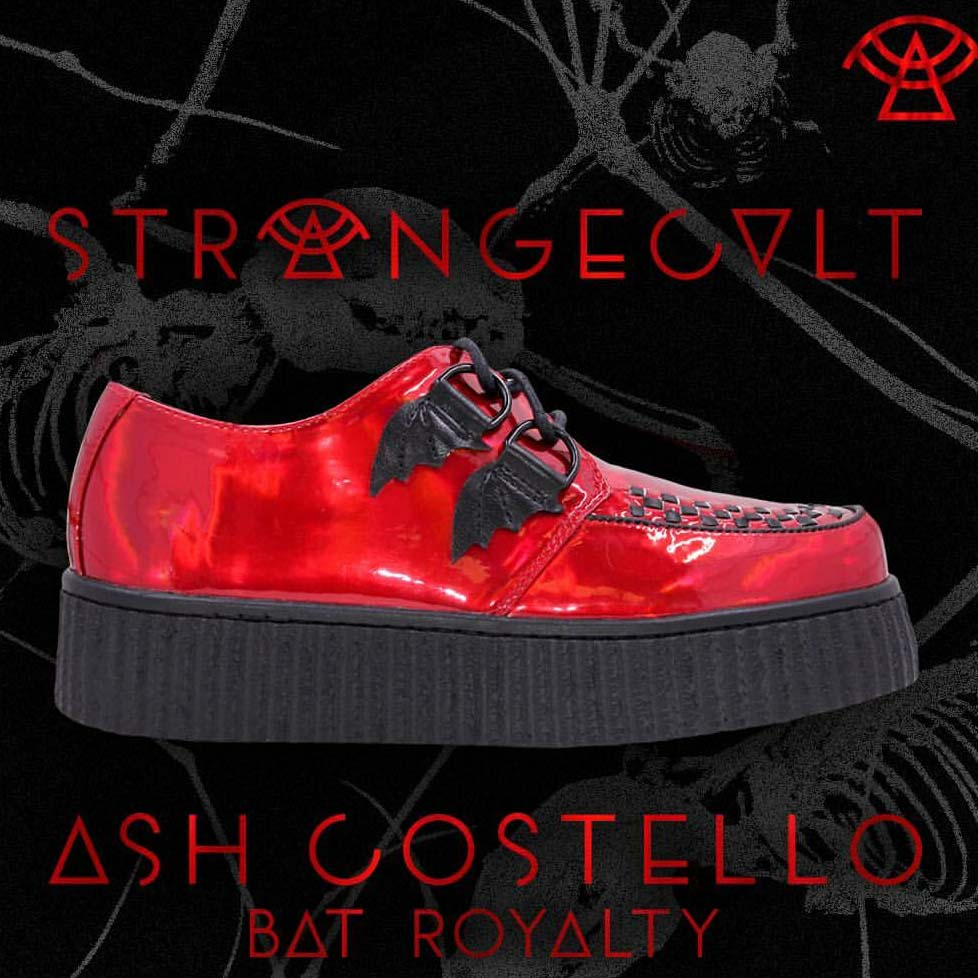 Ash Costello Bat Royalty Blood Red Creepers by Strange Cvlt